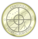 Certified Federal Surveyor seal
